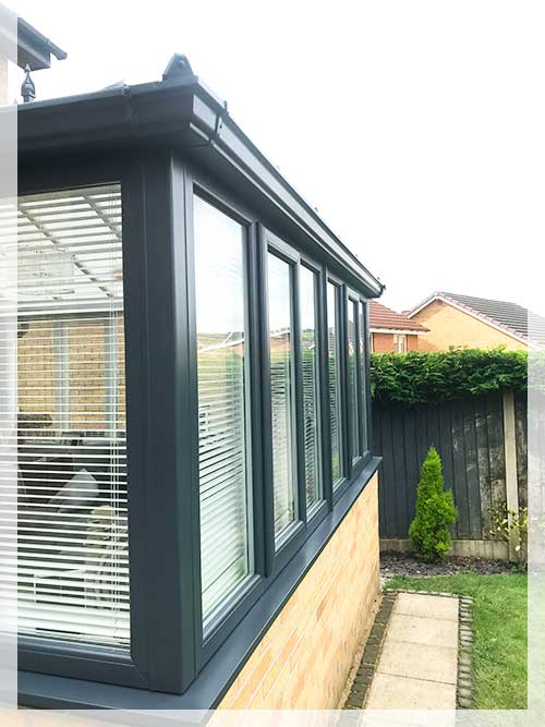 upvc conservatory spray painting