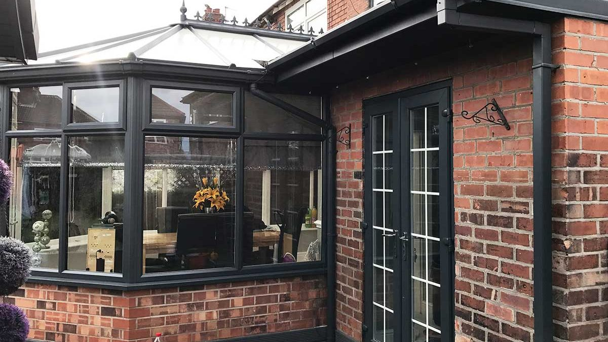 Spraying UPVC Conservatory